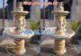 Mẫu đài phun nước sân vườn bằng đá vàng 36
