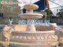 Mẫu đài phun nước sân vườn bằng đá vàng 38