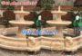 Mẫu đài phun nước sân vườn bằng đá vàng 39