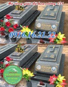 Mẫu mộ đá hoa cương công giáo 151