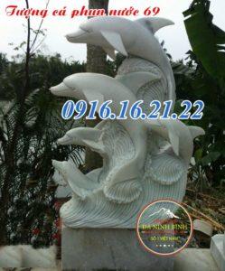 Mẫu tượng cá heo phun nước bằng đá 69