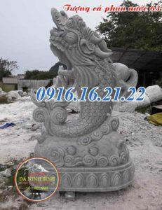 Tượng cá chép hóa rồng phun nước bằng đá 63