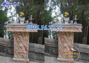 Cây hương đá thờ thần đất bằng đá 96