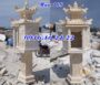 Cây hương đá thờ thần đất bằng đá vàng