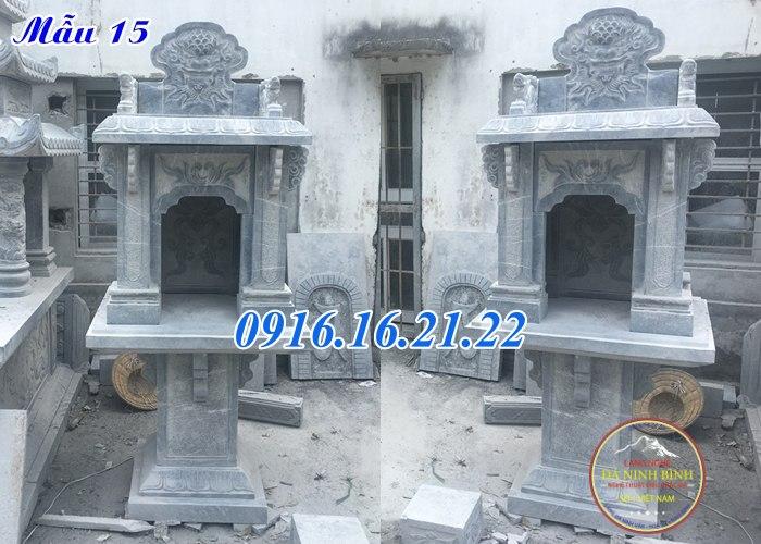 Cây hương đá thờ thiên địa thờ thần đất có mái che đẹp