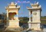 Mẫu am miếu thờ nhỏ thờ thần linh bằng đá vàng