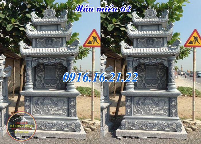 Mẫu am miếu thờ thần linh thổ thần ngoài trời bằng đá 62
