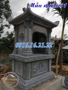 Mẫu am thờ ngoài trời thờ quan âm bồ tát bằng đá khối 51