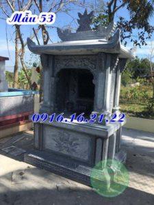 Mẫu am thờ ngoài trời thờ quan âm bồ tát bằng đá khối đẹp 53