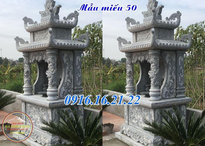 Mẫu am thờ ngoài trời thờ quan âm bồ tát đẹp bằng đá khối 50