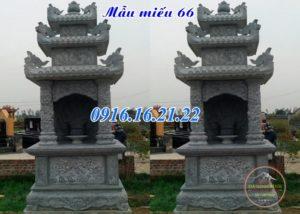 Mẫu miếu thờ ngoài trời tại chung cư bằng đá tự nhiên đẹp 66