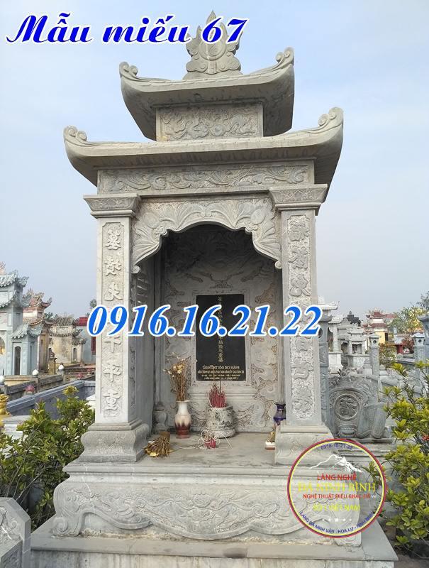 Mẫu miếu thờ ngoài trời tại chung cư bằng đá tự nhiên đẹp 67