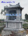 Miếu ông hổ miếu sơn thần ngoài trời bằng đá khối đẹp 71