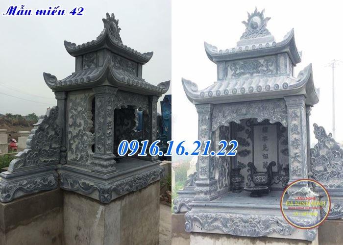Miếu thờ thần linh bằng đá đẹp 42