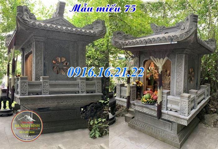 Miếu thờ thổ thần tại khu dân cư bằng đá giá rẻ 75