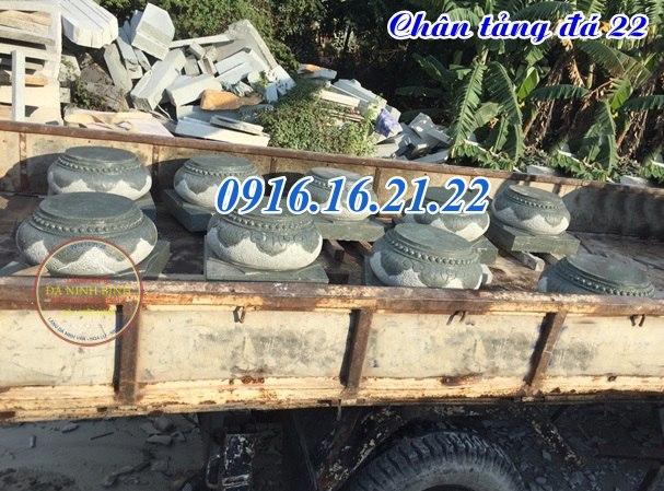 Mẫu chân tảng đá kê chân cột