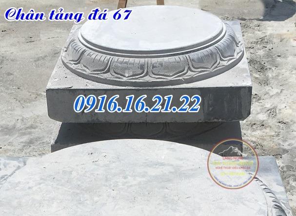 Mẫu chân tảng đá kê cột