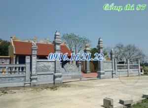Cổng đền bằng đá tự nhiên
