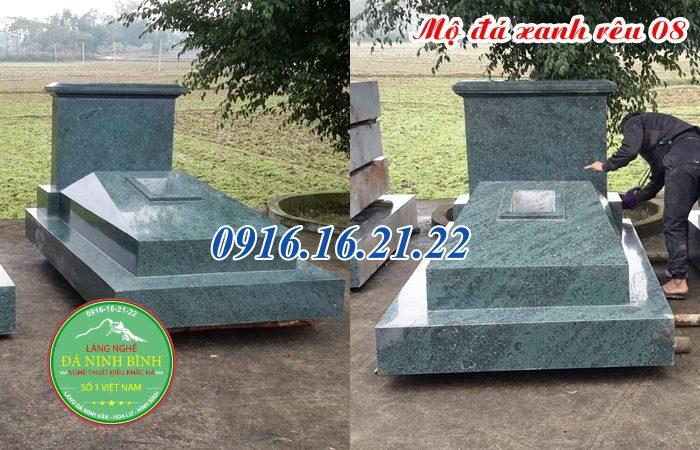 Giá mộ đá xanh rêu liền khối