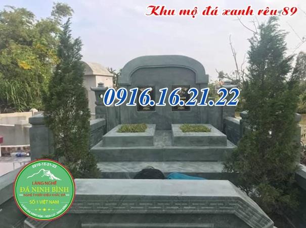 Mẫu mộ đôi đá xanh rêu