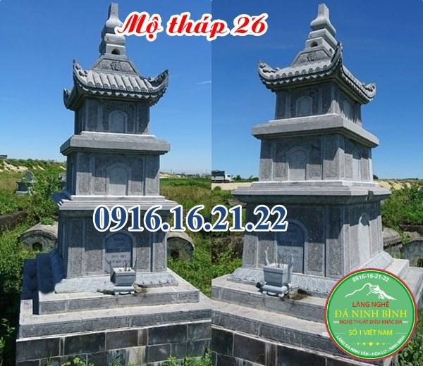 12 mẫu mộ tháp đá tại Long An