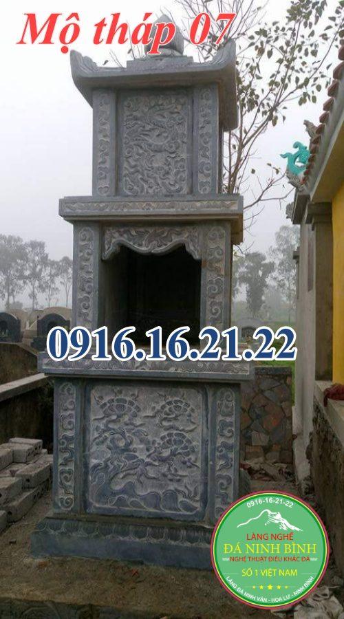 Những mẫu mộ tháp phật giáo để tro cốt tại Long An