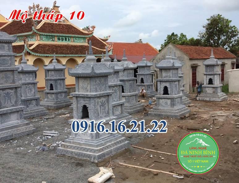 Những mẫu mộ tháp phật giáo để tro cốt thiết kế theo phong thủy tại Long An